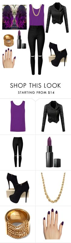 """In the hood"" by gracelizn ❤ liked on Polyvore featuring Helmut Lang, Vincent Longo, Giuseppe Zanotti, Chloé and Static Nails"