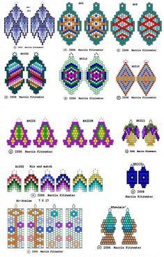 Brick weven oorbellen (veel regelingen)   biser.info - alles over kralen en kralen werken