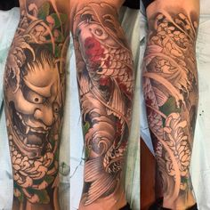 Nenhuma descrição de foto disponível. Asian Tattoos, Face Tattoos, Cover Up Tattoos, Leg Tattoos, Body Art Tattoos, Hanya Mask Tattoo, Hannya Tattoo, Yakuza Tattoo, Asian Tattoo Sleeve