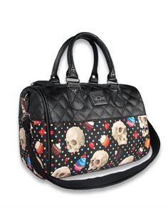 Liquor Brand Damen CUPCAKE SKULLS Handtasche/Bags.Tattoo,Pin up,Biker Style