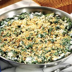 Try our Spinach Gratin created by chef Michael Symon, using Oikos Greek yogurt as his secret ingredient.