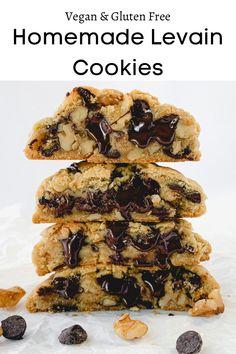 Levain Cookies, Paleo Cookies, Gluten Free Cookies, Gluten Free Baking, Vegan Baking, Vegan Gluten Free, Dairy Free, Best Vegan Cookies, Vegan Food