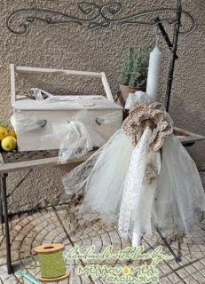 "Set βάπτισης ""Crochet flower"""