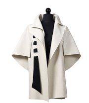 manteau noir et blanc ◕ ample confortable et singulier