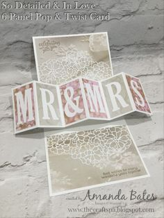 The Craft Spa - Stampin' Up! UK independent demonstrator : So Detailed & Falling In Love Six Panel Pop & Twist Card