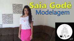 PASSO A PASSO Modelagem de saia godê por Alana Santos Blogger