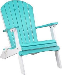 LuxCraft Poly Folding Adirondack Chair Adore the comfort and look of your Adirondack made with eco friendly poly! Choose your colors and enjoy an investment in outdoor furniture that can handle any weather. #dutchcrafters