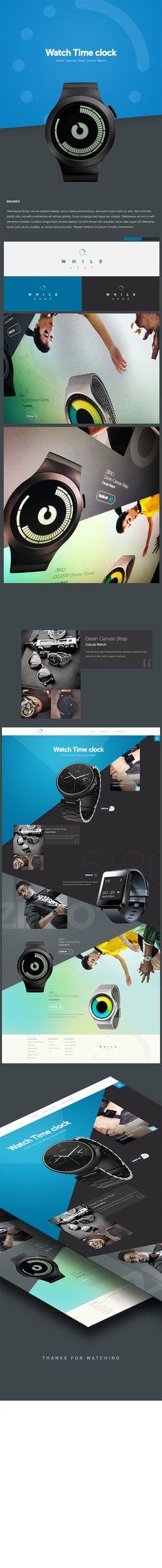 While Shop: interaction store web design (UI/UX Concept) by Cüneyt Şen on Behance.