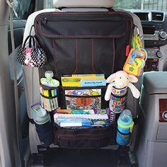 PREMIUM LARGE BACK SEAT CAR VAN TIDY TRAVEL STORAGE STOW HOLDER ORGANISER KIDS