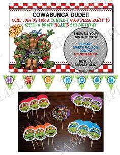 Resultado de imagen para ninja turtles cupcake toppers Martn