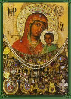 Γοργοεπήκοος Μάνδρα Αττικής. Toute Sainte de Gorgoepikoos Mandra en Attique Blessed Mother Mary, Byzantine Art, Madonna And Child, Religious Icons, Orthodox Icons, Virgin Mary, Our Lady, Holy Spirit, Christianity