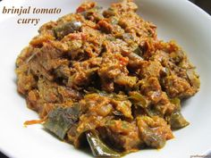 My Grandma's Recipes: Brinjal Tomato Curry