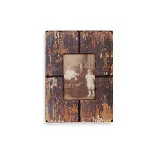 Barnwood Distressed Wood 5' x 7' Frame - Black - Bed Bath & Beyond