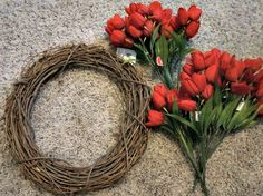 Wreath Ideas: How to make a Tulip Wreath
