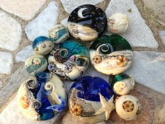 Glitzerklimbim.blogspot.de lampwork Beach Sea
