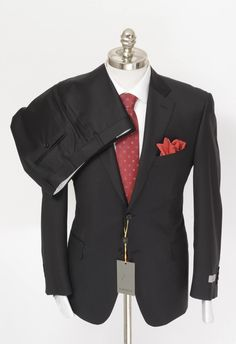 So formal & fashionable, in this CANALI 1934 Italy Solid Black All Season Wool 2Btn Suit!  |  Find yours! http://www.frieschskys.com/suits  |  #frieschskys #mensfashion #fashion #mensstyle #style #moda #menswear #dapper #stylish #MadeInItaly #Italy #couture #highfashion #designer #shopping