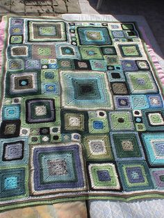 Inspiration for colors when I stitch a similar afghan. Babette3 by Mohariina, via Flickr