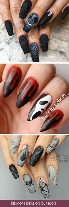 Are you searching for the freshest Halloween nail designs you have never seen before? Check out our photo gallery to find some! nageldesign muster 36 Cute And Creepy Halloween Nail Designs 2019 Halloween Acrylic Nails, Halloween Nail Designs, Nail Art For Halloween, Halloween Ideas, Great Nails, Cute Nails, Trendy Nails, Acrylic Nail Designs, Nail Art Designs