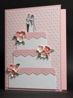 I Do by AbbysGrammy - Cards and Paper Crafts at Splitcoaststampers Homemade Wedding Cards, Wedding Cards Handmade, Greeting Cards Handmade, Homemade Cards, Cricut Cards, Stampin Up Cards, Birthday Cards, Birthday Images, Birthday Quotes