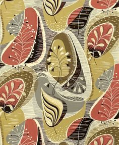 Modernist textile from Henry Moore Source - http://kathykavan.posthaven.com/modernist-textiles-1950s-henry-moore.