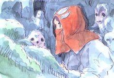 Studio Ghibli © Toho Company © Buena Vista International by Hayao Miyazaki by Hayao Miyazaki Sourc. Totoro, Studio Ghibli Art, Ghibli Movies, Hayao Miyazaki, Art Studios, Anime Manga, Character Art, Concept Art, Illustration Art