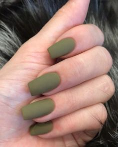 Hottest Trends for Acrylic Nail Shapes Acrylic Nail Shapes, Best Acrylic Nails, Matte Nails, Matte Green Nails, Kylie Nails, My Nails, Coffin Nails Designs Kylie Jenner, Acrylic Nails Kylie Jenner, Minimalist Nails