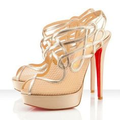 Christian Louboutin?|?Evoluta 100 leather suede and mesh pumps | net-a-por...