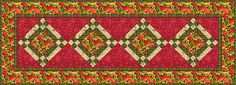 Easy Patchwork Table Runner Pattern: Patchwork Table Runner with On Point Blocks