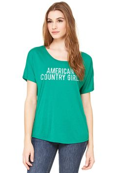 Country Girl Store - Juniors American Country Girl® Slouchy Tee, $23.95 (http://www.countrygirlstore.com/juniors/short-sleeve-tees/american-country-girl-slouchy-tee/)