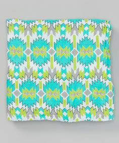 48'' x 48'' Blue Ganado Lullaby Organic Swaddling Blanket by Captain Silly Pants #zulily #zulilyfinds