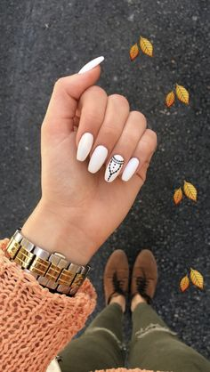 🍁🍂🍁🍂🍁🍂 #women #white #nails #fashion #style #design