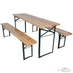Beer Party Table Set Outdoor Folding Garden Beer Bench Beer Table Wooden New