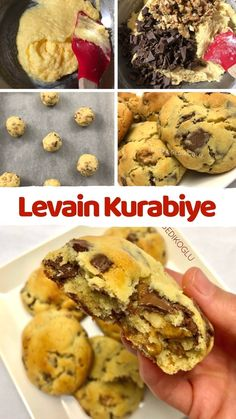 Choclate Chip Cookies, Delicious Desserts, Yummy Food, Fondue Recipes, Sweet Cookies, Turkish Recipes, Food Presentation, No Bake Cake, Cookie Recipes