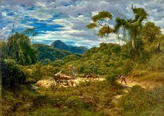 Henri Nicolas Vinet (1817-1876)-'landscape in the environs of Rio de Janeiro