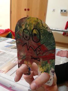 Finger monster. Toddler Arts and Crafts