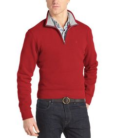 This Red Dahlia Quarter-Zip Pullover - Men & Tall by IZOD is perfect! #zulilyfinds