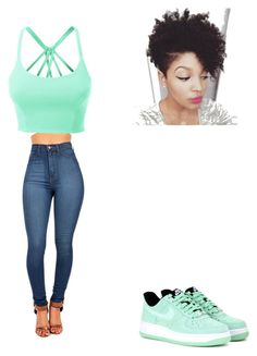 """Hide & Seek"" by lexiswagg ❤ liked on Polyvore featuring LE3NO and NIKE"