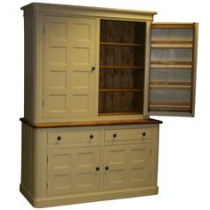 Free Standing Armoire Style Kitchen Cabinet Integrated Fridge And - Kitchen freestanding cabinet