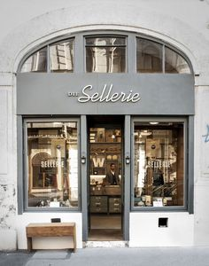 Die SELLERIE - is located in VIENNA& bustling Burggasse and was founded by . Die SELLERIE - is located in VIENNA& bustling Burggasse and was founded by four young graphic designers. In the charming showroom you can find ha. Café Restaurant, Restaurant Design, Shop Front Design, Cafe Sign, Boutique Deco, Bistro, Cafe Style, Shop Fronts, Cafe Interior