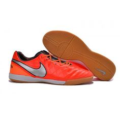 low priced 7137c 04b74 Promo Chaussure Crampon Vente De Nike Tiempo Legacy VI IC Orange Argente