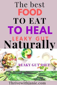 Leaky Gut Diet, How To Heal Leaky Gut, Gut Health, Health And Nutrition, Prebiotic Foods, Leaky Gut Syndrome, Food For Digestion, Anti Inflammatory Diet, Good Foods To Eat