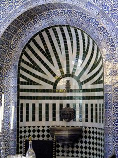 Mosaic #Tile niche, walls, arches in Portugal