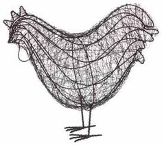 Wire Chicken - Gardens by Covey