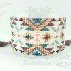 Ansole Bohostyle Bransoletka tkana z toho 15/0 ,szerokość 3.2 cm ,zapięcie regulowane makramowe Zapraszam #bransoletka #bracelet #krosno #loom #toho #biżuteria #jewellery #bohosummer #bohostyle