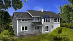 Hus Kalsedon - moderne. Ferdighus fra HIBA HUS - HIBA HUS