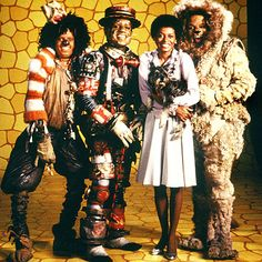 1978 musical starring Diana Ross as Dorothy and Michael Jackson as the Scarecrow, Nipsey Russell as the Tin man and Ted Ross as the cowardly lion in The Wiz. Diana Ross, Robin Givens, Ted, The Jacksons, New York, Universal Pictures, Motown, Wizard Of Oz, I Movie