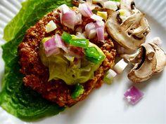 Raw on $10 a Day (or Less!): Mushroom Burgers ~ Raw Vegan Recipe