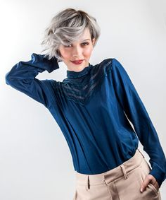 Soft Beauty af Guys & Dolls Intercoiffure Hair Magazine, Guys And Dolls, Ruffle Blouse, Glamour, Hair Styles, Long Sleeve, Sleeves, Beauty, Tops