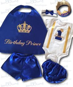 Cake Smash Outfit Baby Boy First Birthday Prince Cape Bow tie Diaper Cover or Shorts Personalised First Birthday Outfits Boy, Baby Boy First Birthday, Birthday Party Outfits, Boy Birthday Parties, Baby Boy Outfits, Gold Birthday, Cake Smash Outfit Boy, Prince Birthday Party, Prince Costume