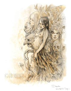 Pregnant Dryad by Jean-Baptiste Monge